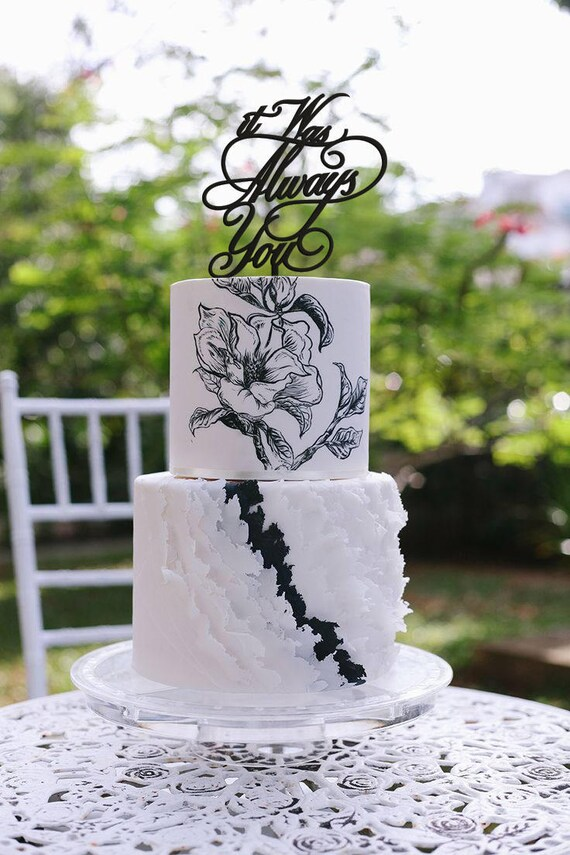It Was Always You Wedding Cake Topper, It Was Always You Cake Topper, Wedding Cake Topper, Coed Shower, Jack and Jill Shower