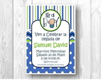 Digital invitation Baby Shower - I'ts a Boy