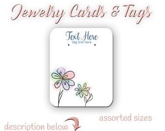 Earring Cards -  Jewelry Card -  Custom Card -  Tags -  Product Tags -  Necklace Tags -  Labels - Earring Post Cards
