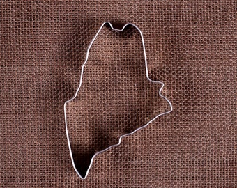 Maine Cookie Cutter, State of Maine Cookie Cutter, State Cookie Cutters, Metal Cookie Cutters, Maine Biscuit Cutter, Sugar Cookie Cutter