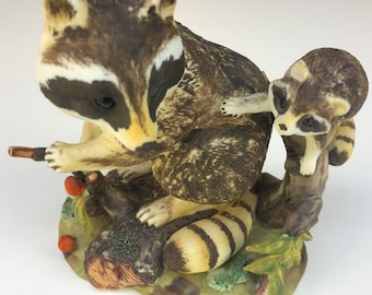 ON SALE Raccoon Figurine Nature's Friends Collection Vintage