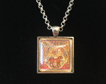 Leo Postage Stamp Necklace