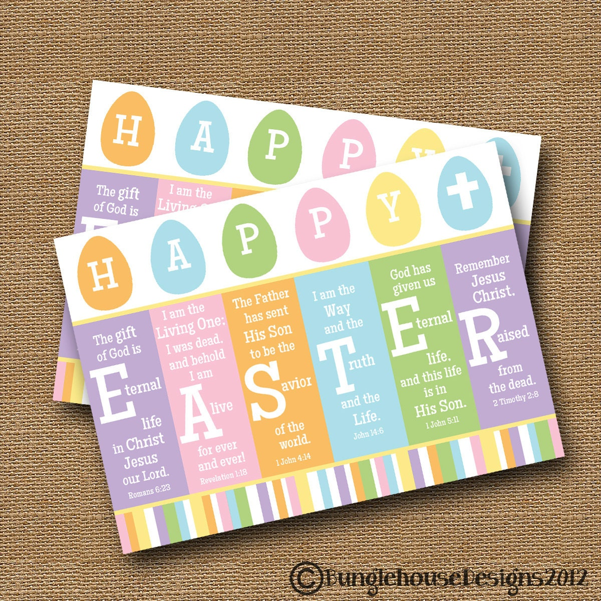 Scripture easter card printable easter card diy printable zoom negle Choice Image