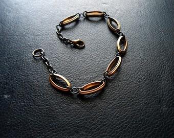 supreme - victorian bracelet repurposed jewelry unisex bracelet mixed metal bracelet link chain minimal bracelet simple chain bracelet
