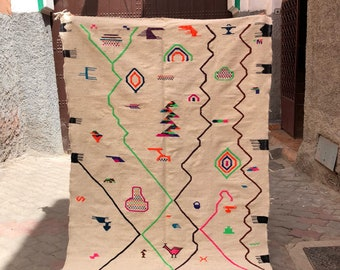 Vintage boujaad kilim morrocain( included shipping by dhl ) 240x150cm