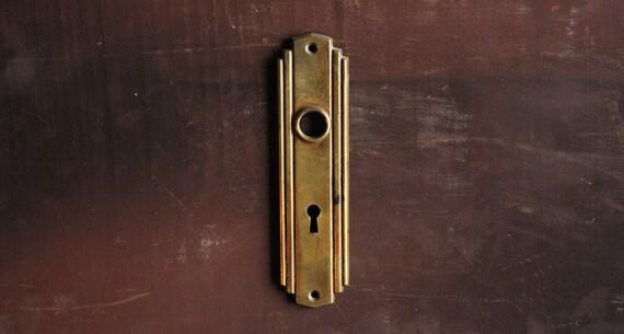 Art Deco Antique Brass Door Plate Escutcheon Hardware / Brass Deco 1930u0027s  Door Hardware From ArchAntiquesShop On Etsy Studio