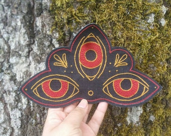 Three Eyed Protection Amulet Patch