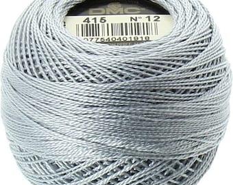 DMC 415 Perle Cotton Thread | Size 8 | Pearl Gray