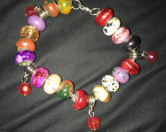 Red Colorful bead bracelet