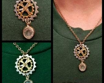 Steampunk gear/cog Necklace