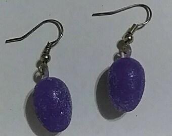 Jelly Bean Easter Earrings Purple