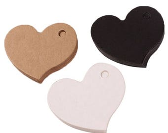 Set of 25 heart gift tags.