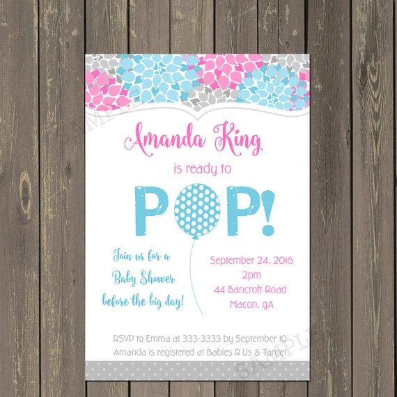Ready to pop baby shower invitation gender neutral baby like this item filmwisefo Images
