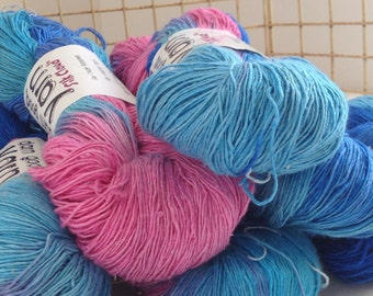 Cotton Candy Reclaimed Cloud Silk Yarn from Darn Good Yarn - 600 yard skien