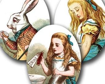 Alice in Wonderland Digital Download, 30 x 40 mm Ovals for Pendants & more, Vintage Digital Collage Sheet, Highest Quality - piddix 471