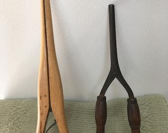 Vintage hair curling items