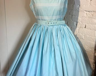 Original 1950 1960s Pretty Summer Dress by Carnegie