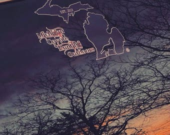 Michigan Coyote Hunting Outdoors Decals