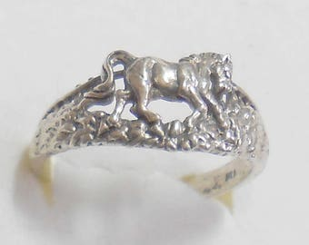 Size 7 Sterling Silver Horse Ring New Vintage Stock