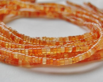 Carnelian bead strand,rondelle shaped, jewelry making supplies, circle of stones,  gem beads, bead strands