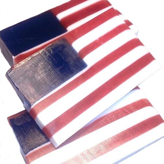The 1776 Bar - Indigo Powder & Pure Citrus Essential Oils - VEGAN / Freedom / Fourth of July / America / U.S.A. / Patriotic / Flag