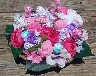 Baby sock bouquet baby shower flowers shower decorations baby shower gift baby bouquet baby floral bouquet new mom gift baby negle Gallery