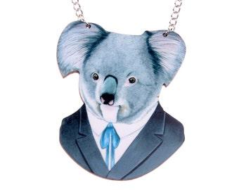 Koala bear Necklace wooden