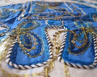 Light Blue Elephant Tapestry