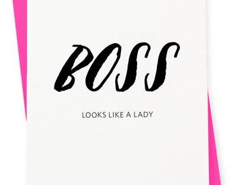 Encouragement / Friendship Card - Boss Letterpress Card