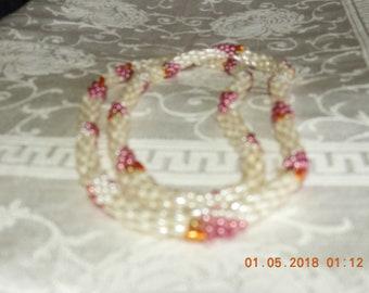 Vintage handmade crocheted Grape beaded necklace