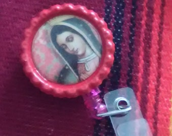 Lady of Guadalupe Badge Holder