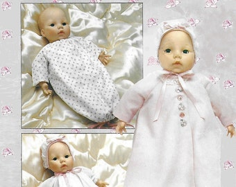 Butterick 254 Baby Doll Clothes for 18 inch doll Sewing Pattern 1980s