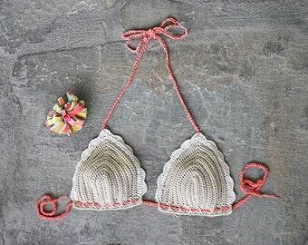 Lace crochet bra, Crochet bralette, Crochet bikini top, yoga crochet bikini top, crochet top, hippie crochet bikini, crop top crochet