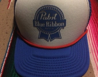 PBR Trucker Hat Pabst Blue Ribbon Beer Hat Cap
