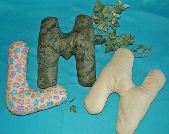 Alphabet Pillows L M N