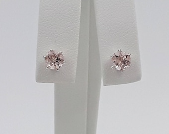 Sterling Silver Morganite Earrings