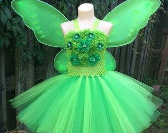 tinkerbell costume, fairy tutu, fairy costume, tinkerbell tutu, green fairy tutu, tinkerbell tutu costume, tinkerbell dress, fairy dress