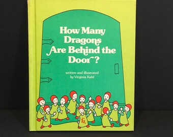 How Many Dragons are Behind the Door , Virginia Kahl , Hardback , Childrens Book , Weekly Reader , 1977