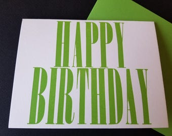 A Simple Happy Birthday Letterpress Card
