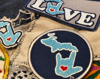 ILY Michigan Patches Collection - 4 Pack