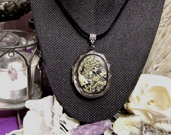 SAINT COLETTE | Skeleton & Bird | Cameo Locket Necklace | Solid Perfume | Choose Your Own Fragrance | Natural Perfumery