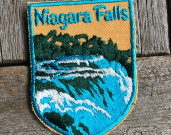 LAST ONE! Niagara Falls Vintage Souvenir Travel Patch from Voyager