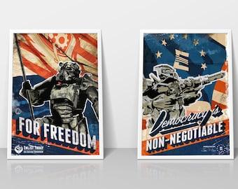 Fallout Inspired Propaganda Poster Set