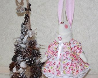 Hare in the style of Tilda, Handmade. Rag doll, Interior doll. Rag doll. Tilde's Doll.
