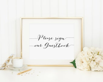 Please Sign Our Guestbook Printable Wedding Guestbook Sign Wedding Decoration Wedding Table Sign Guestbook Table Sign Shower Sign Event Sign