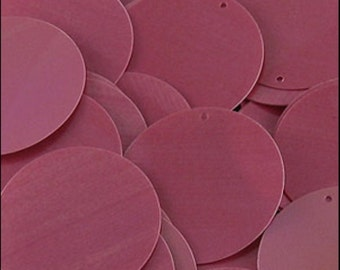 Glossy Bubblegum Pink Disc Sequins 24mm - JR02860