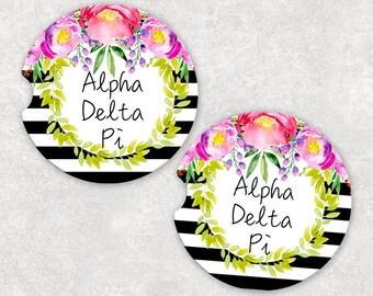 Alpha Delta Pi Car Coaster, Sorority gift, Big Little Gift, Alpha Delta Pi Gift, ADPi