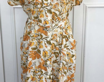 Russian or Georgian (??) 1940s/1950s Floral Day Dress