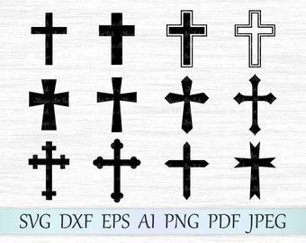 Cross svg file, Cross clipart, Crosses svg file, Cross vector, Christian svg, Cross silhouette, Cross cricut, Crosses cut file, Catholic svg