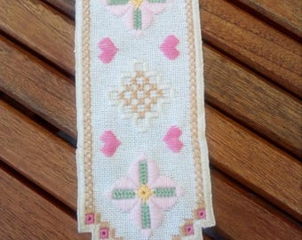 Beautiful bookmark in hardanger embroidery